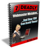 7 Deadly Webmaster Mistakes Ebook with Master Resale Rights