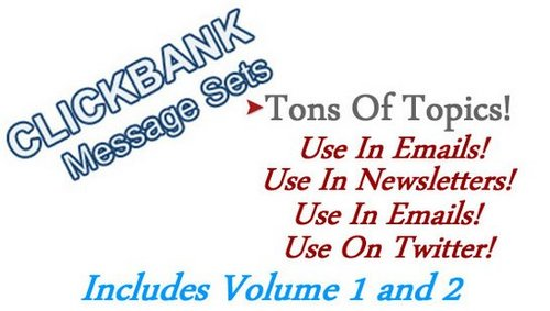 Product picture Clickbank Message Sets Volume 1 and 2 PLR
