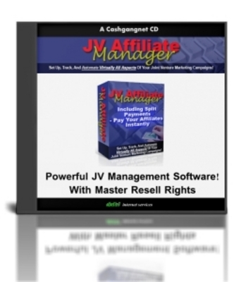 Product picture JV Affiliate Manager - With Master Resell Rights