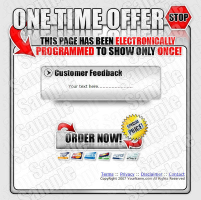 Product picture One Time Offer Sales Page Templates