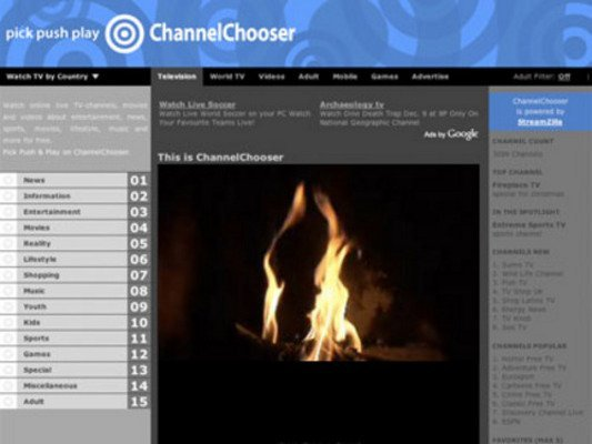 Product picture Channel Chooser PHP Website Script - Website Television