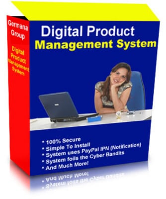 Product picture Digital Product Management System with Master Resale Rights