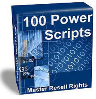 Product picture 100 Power Scripts for Webmasters - Contains 114 Scripts - Master Resell Rights