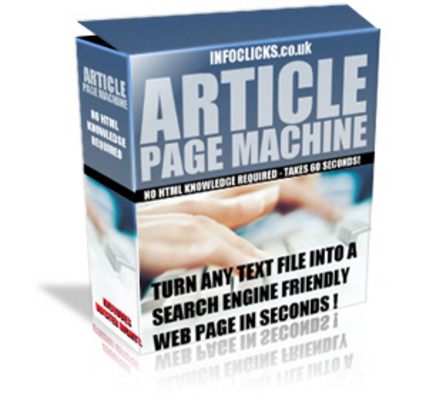 Product picture Article Page Machine with Master Resale Rights *NEW*