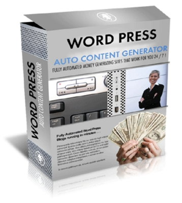 Product picture WordPress Blog Auto Content Generator w Master Resale Rights