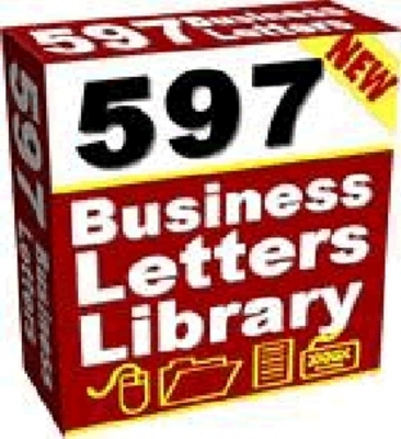 Product picture NEW - 597 Business Letters Library with Master Resell Rights