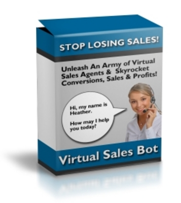 Product picture Virtual Sales Bot with Master Resale Rights