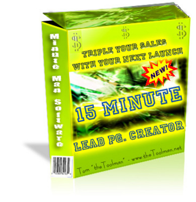 Product picture The 15 Minute Lead Page Creator - Master Resell Rights & PLR