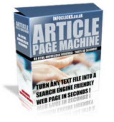 Product picture Article Page Machine with Master Resale Rights