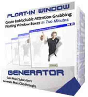 Product picture Float-In Window Generator MRR!