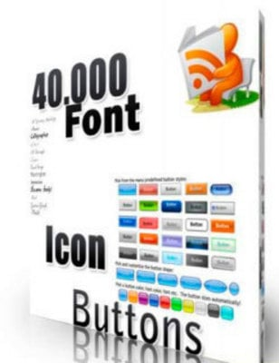 Product picture 40000 Collection of Fonts Icons and Buttons