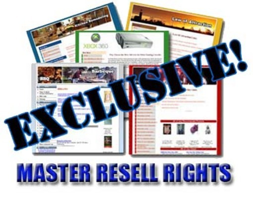 Product picture 85 Exclusive Niche Content Websites with Master Resale Right